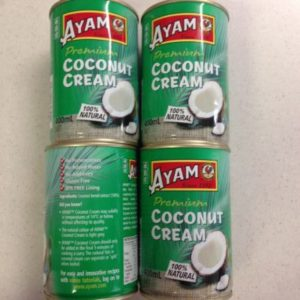 4 x 400ml AYAM 100% Coconut Cream