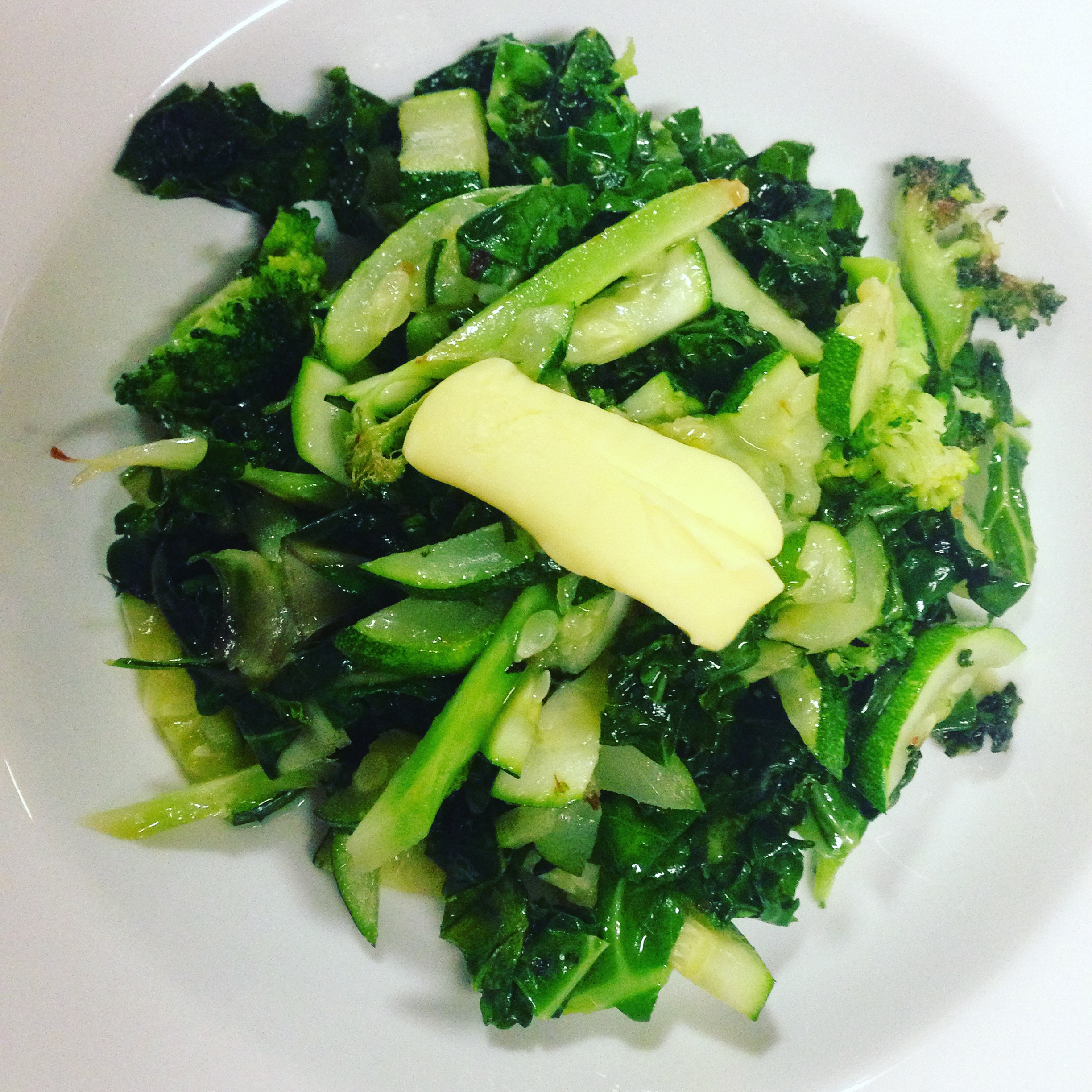Holiday road trip food sautéed greens butter